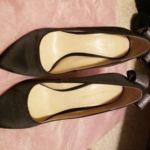 Enzo satin heels